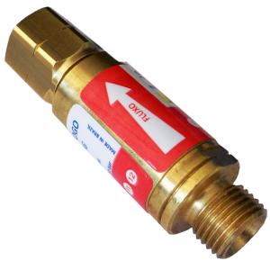 válvula corta chama para regulador de acetileno
